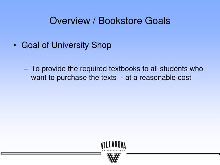 Overview bookstore goals l.jpg