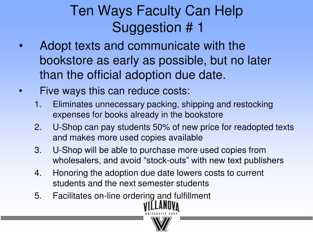 Ten Ways Faculty Can Help
