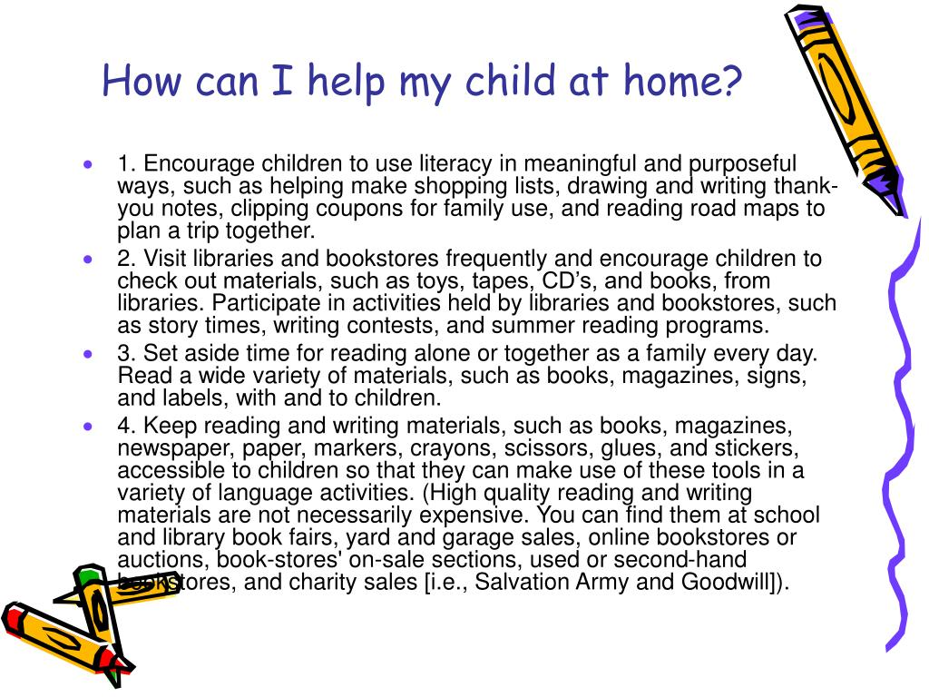 How can I help my child at home?