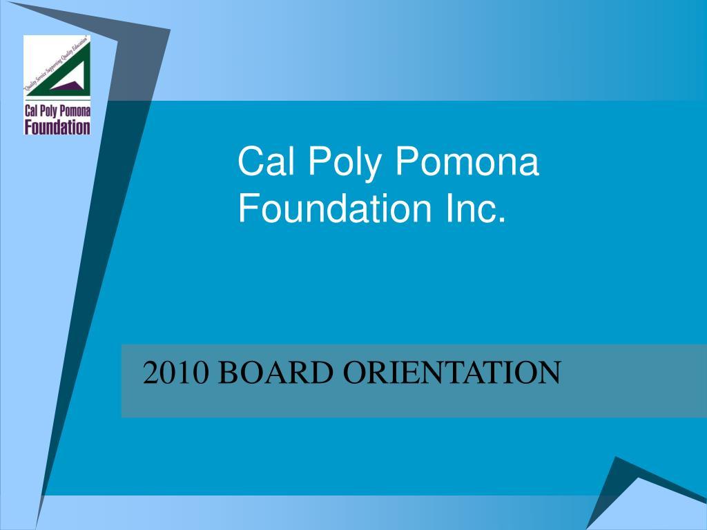 cal poly pomona foundation inc
