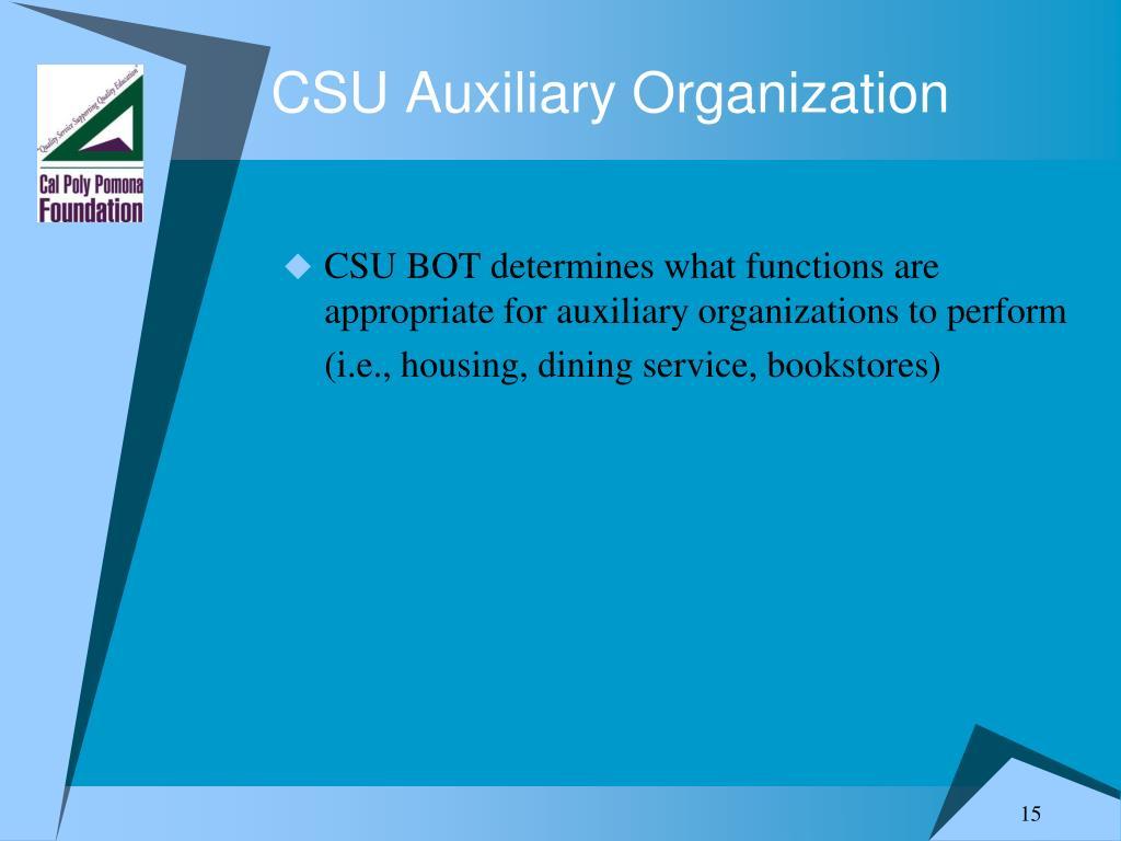 CSU Auxiliary Organization