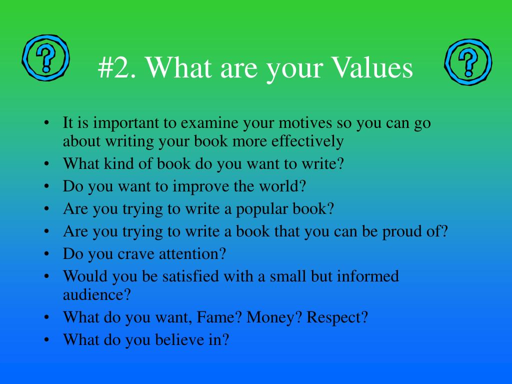 #2. What are your Values
