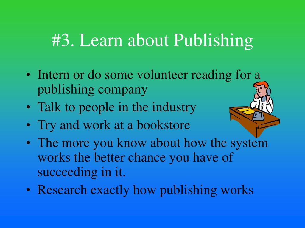 #3. Learn about Publishing