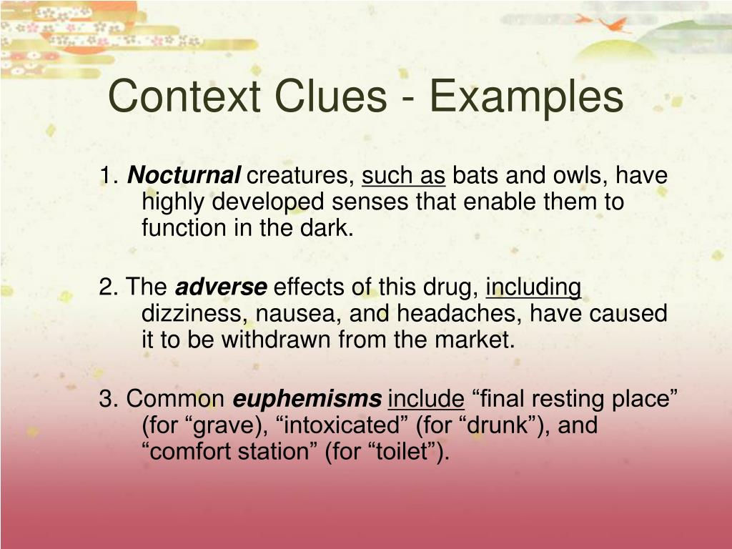Context Clues - Examples