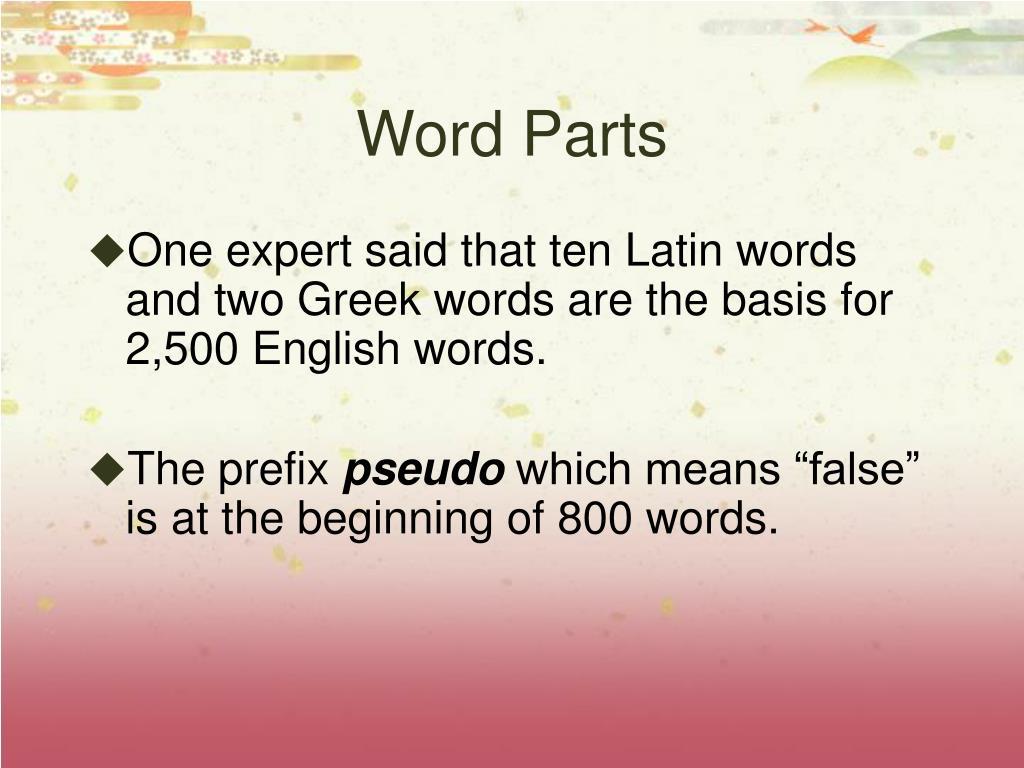 Word Parts