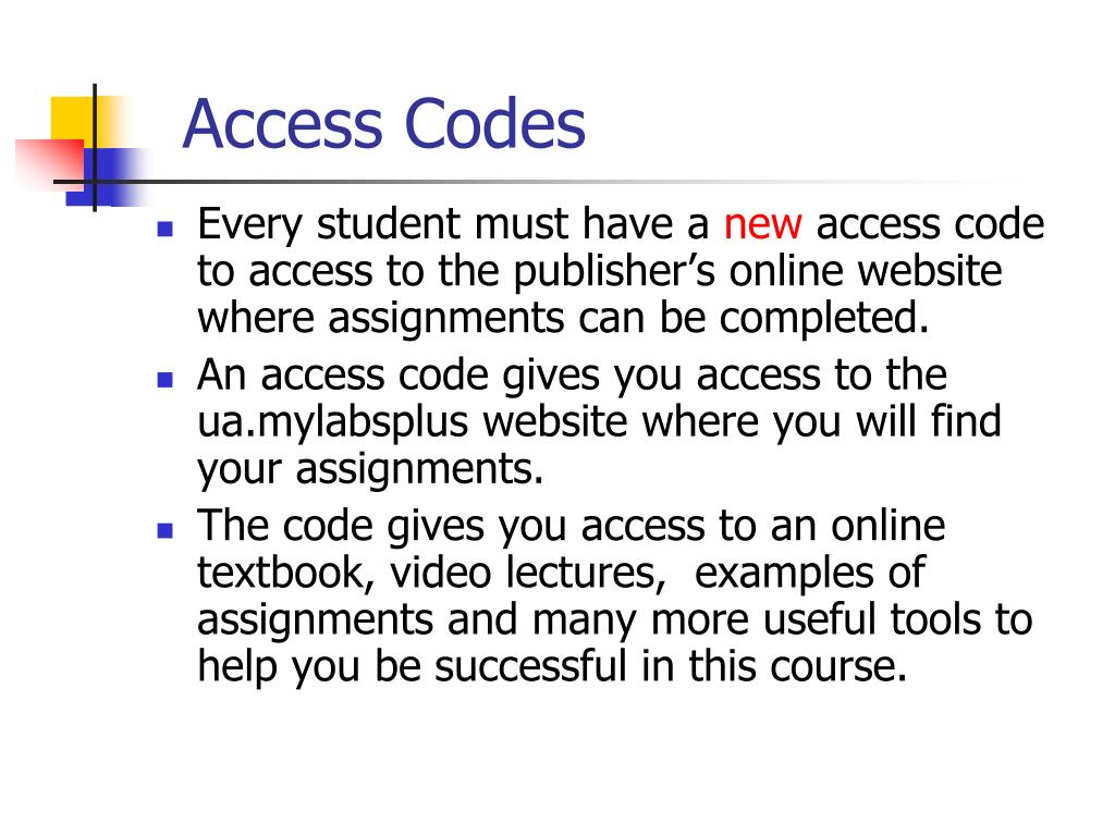 Access Codes