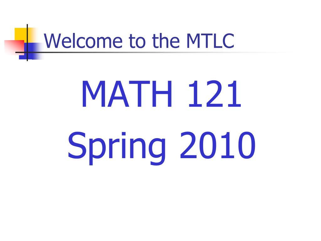 MATH 121