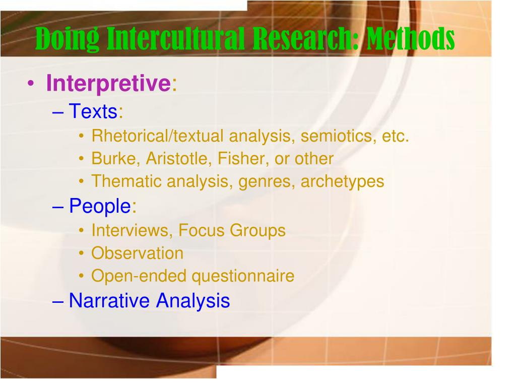 Doing Intercultural Research: Methods