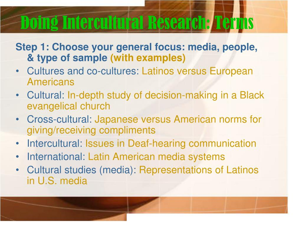 Doing Intercultural Research: Terms