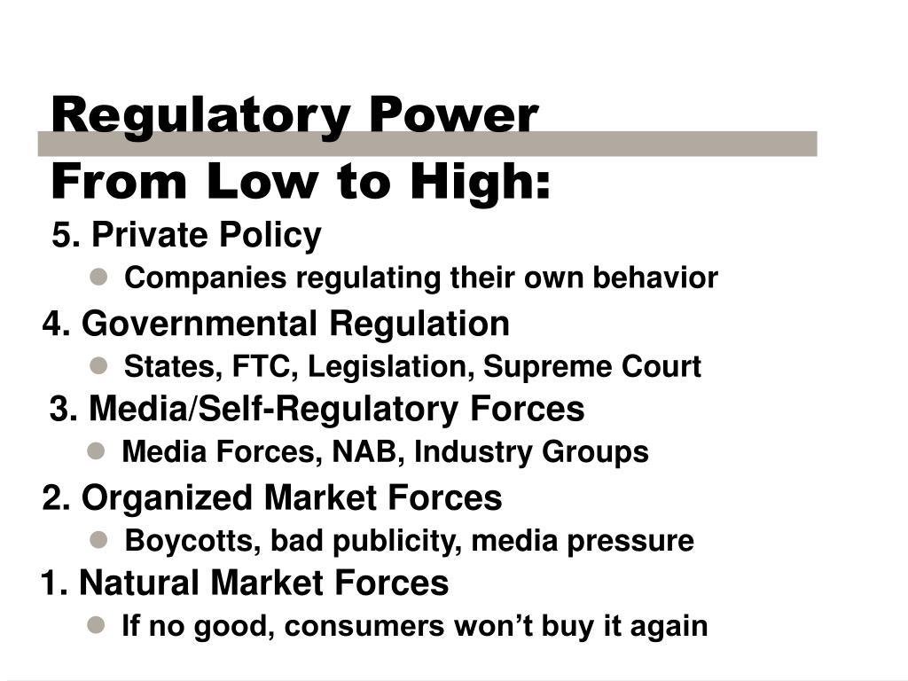 Regulatory Power