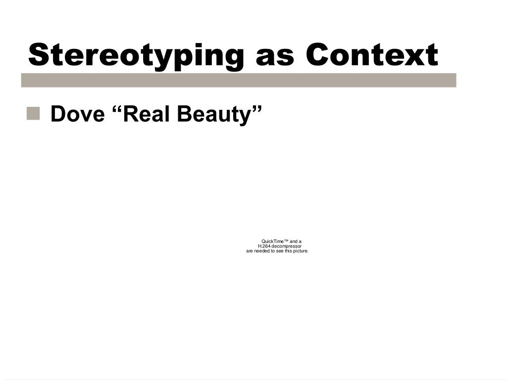 Stereotyping as Context