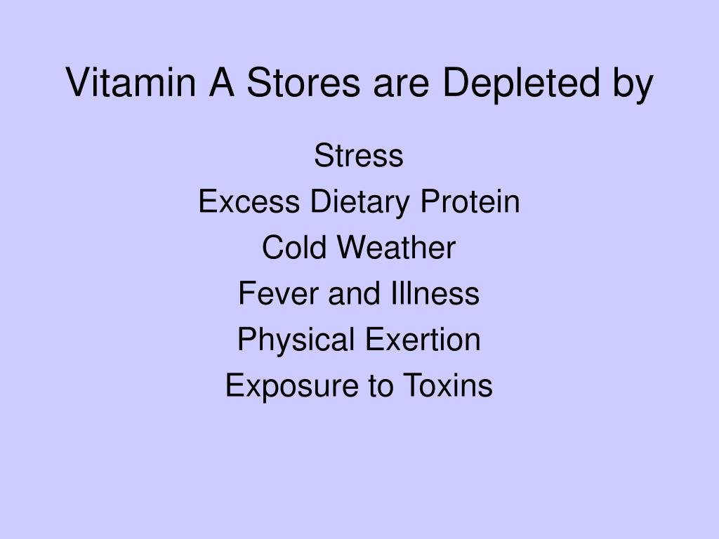 Vitamin A Stores are Depleted by