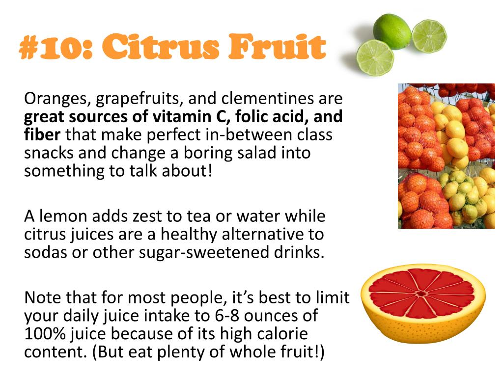#10: Citrus Fruit