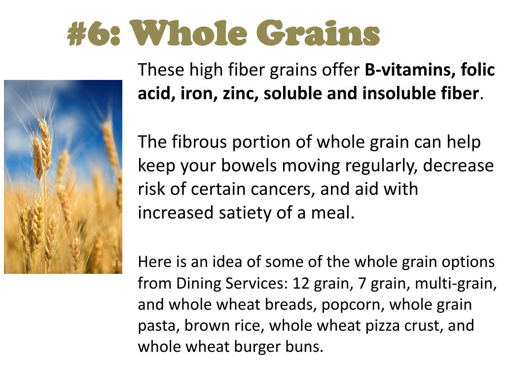#6: Whole Grains