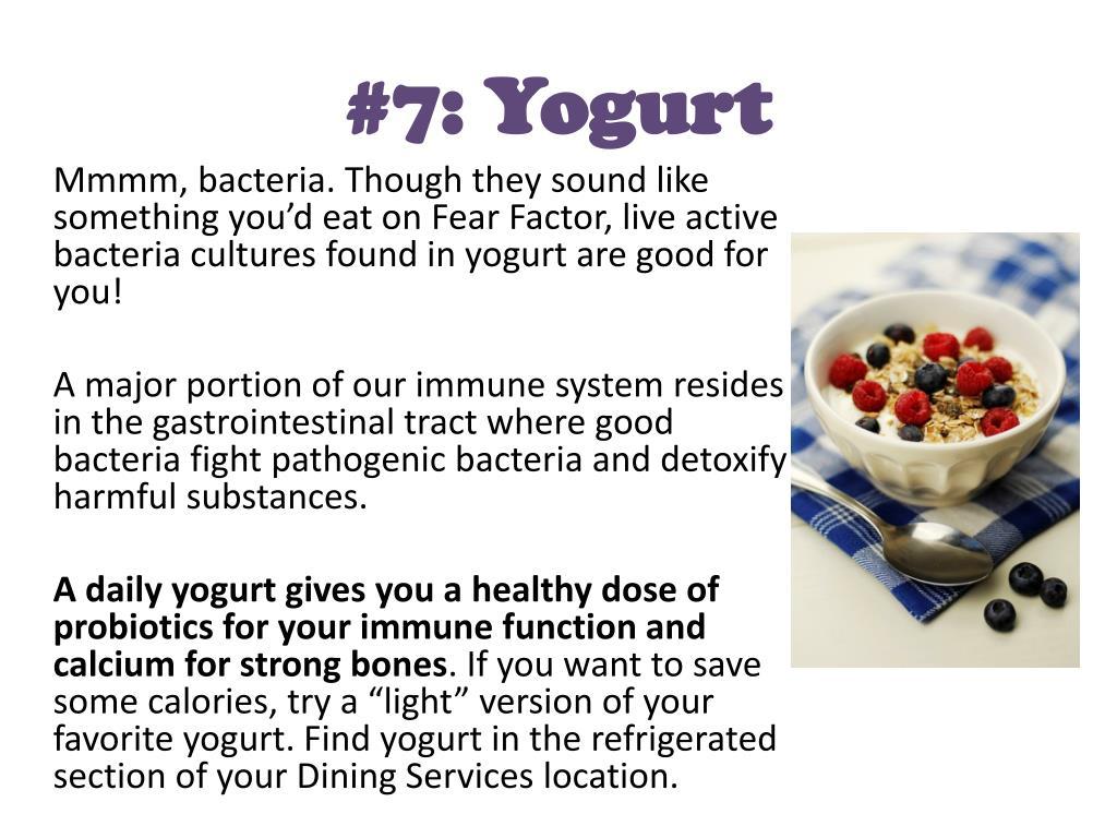 #7: Yogurt