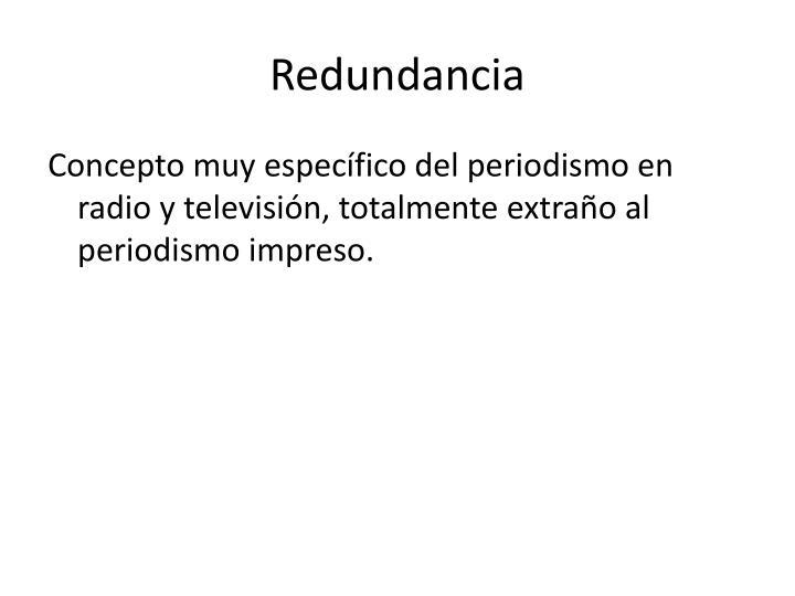 Redundancia
