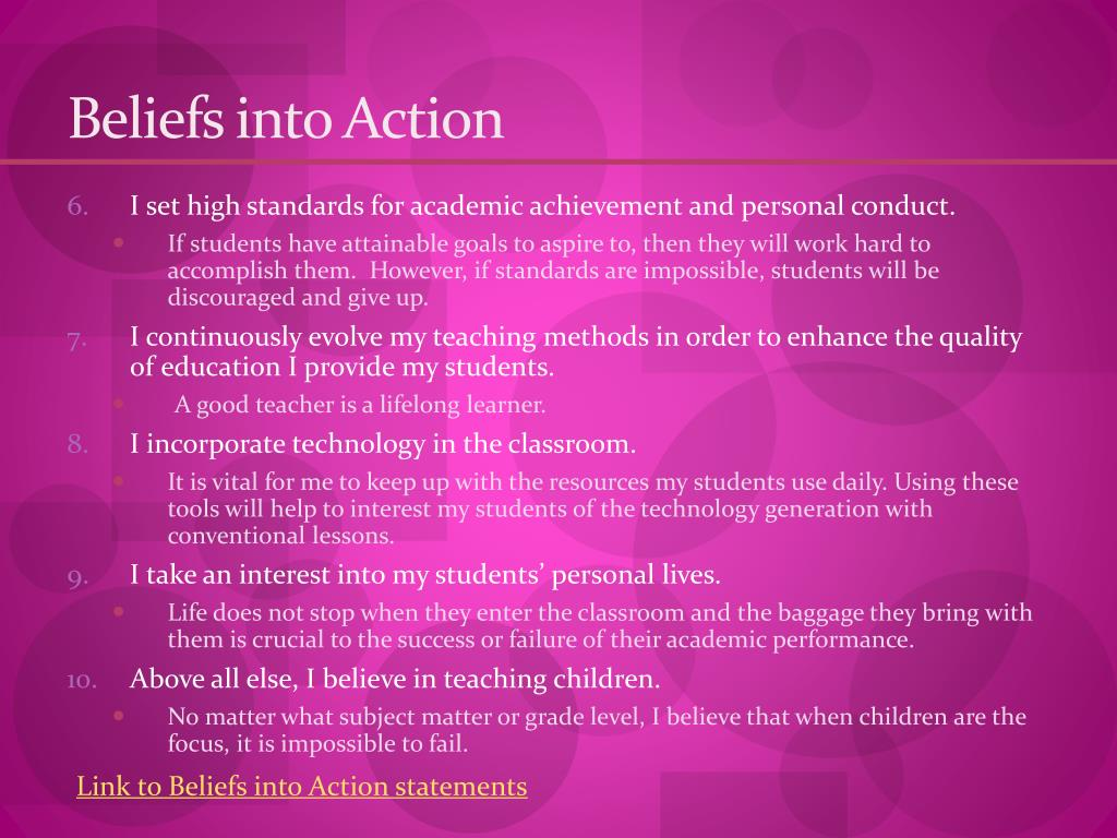Beliefs into Action