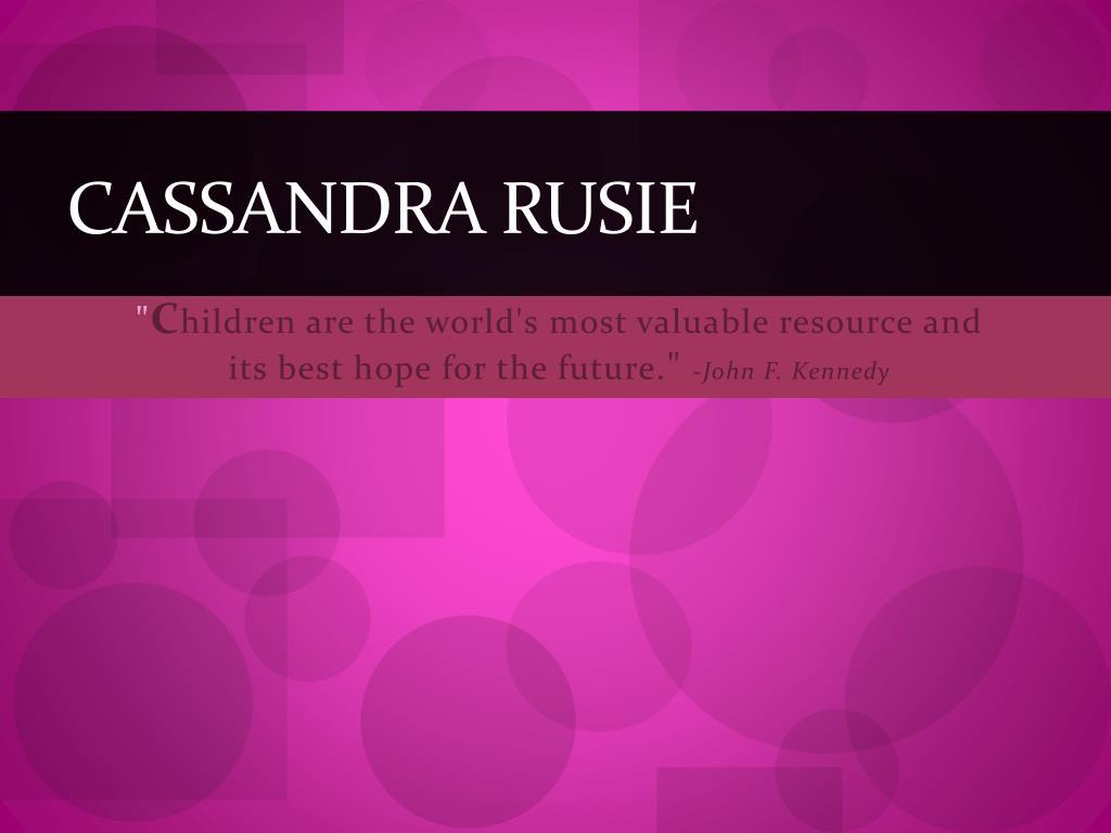 Cassandra Rusie