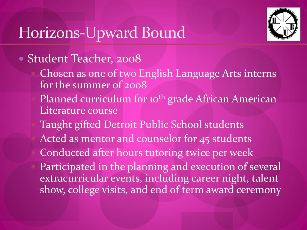Horizons-Upward Bound