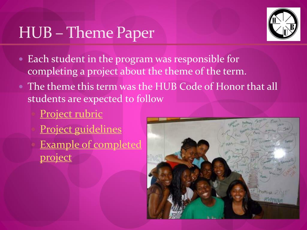 HUB – Theme Paper