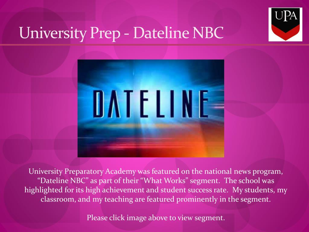 University Prep - Dateline NBC
