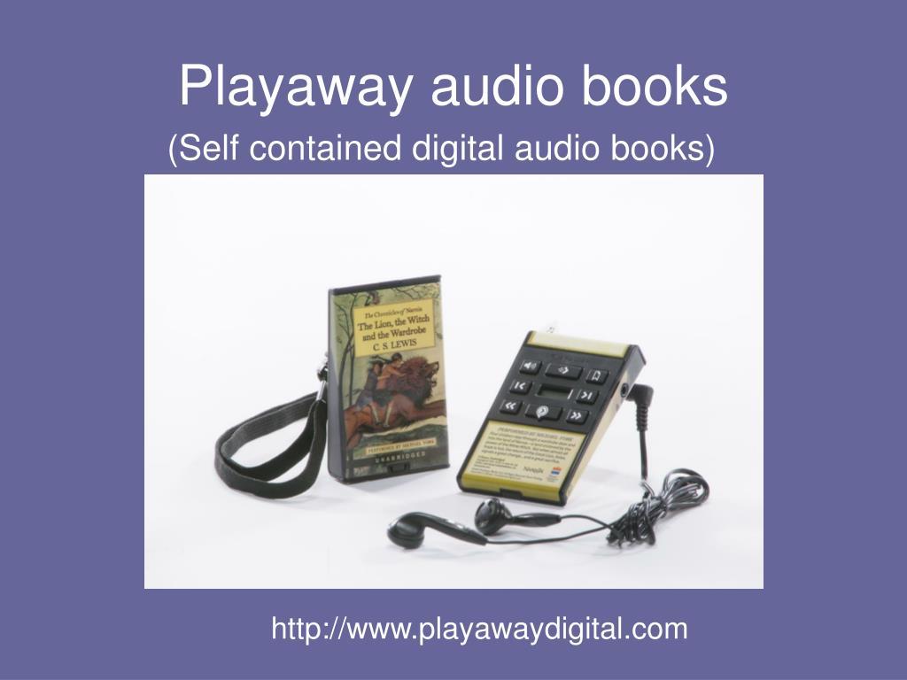 Playaway audio books
