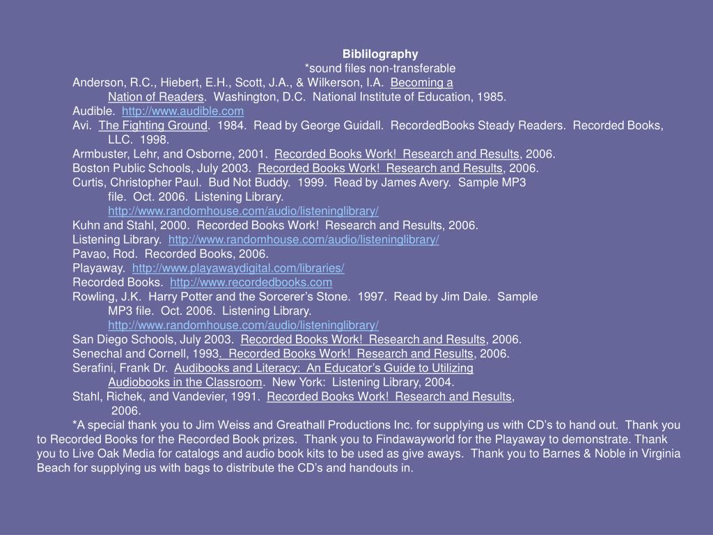 Biblilography