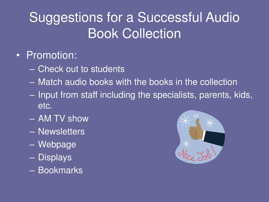 Suggestions for a Successful Audio Book Collection