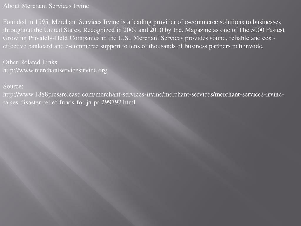 About Merchant Services Irvine