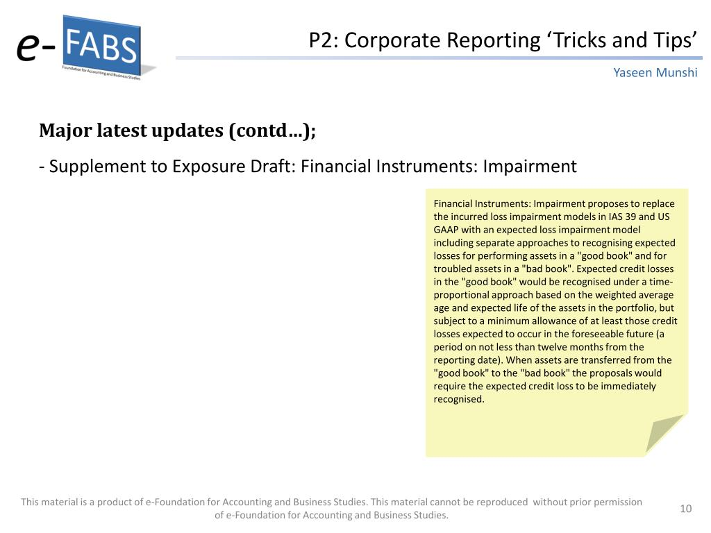P2: Corporate Reporting 'Tricks and Tips'