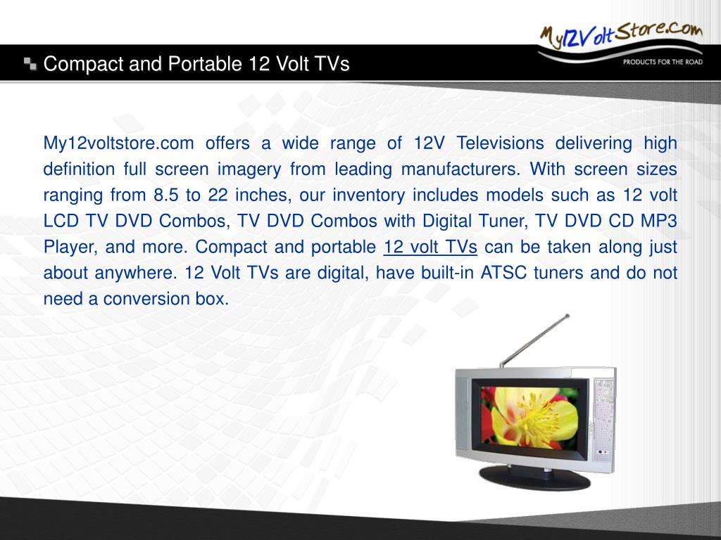 Compact and Portable 12 Volt TVs