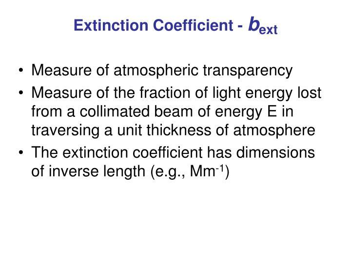 Extinction Coefficient -
