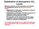 stabilization of atmospheric co 2 levels