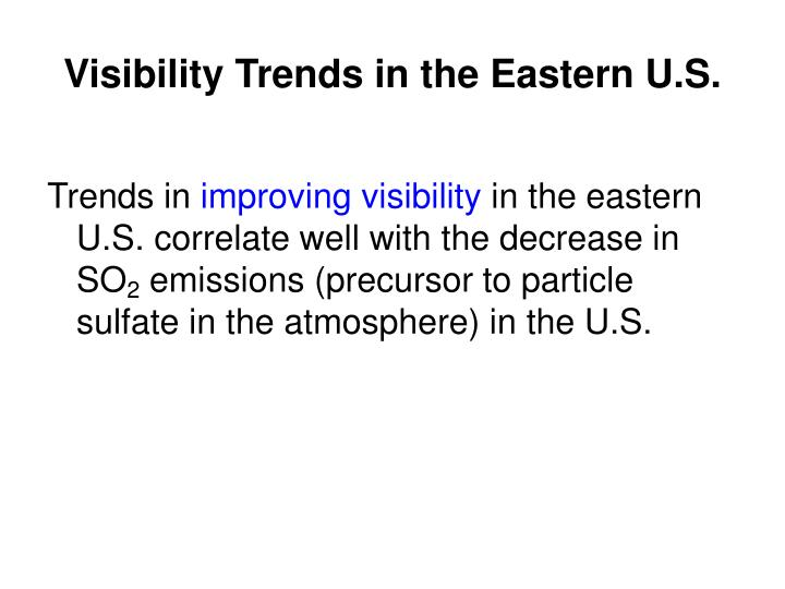 Visibility Trends in the Eastern U.S.