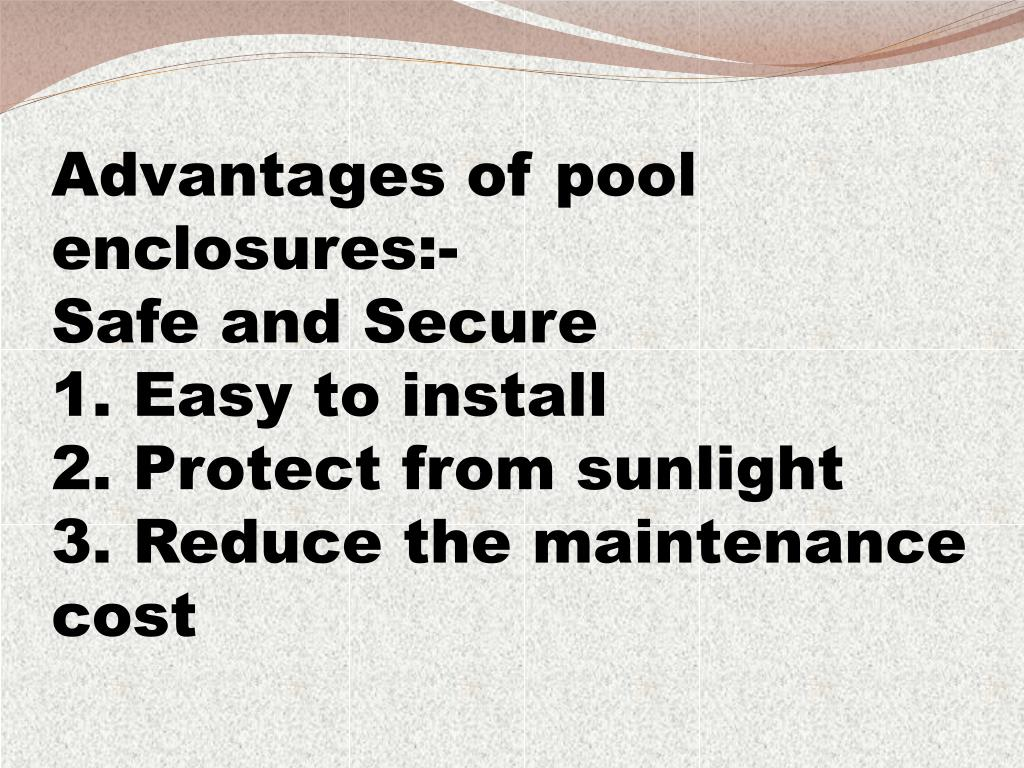 Advantages of pool