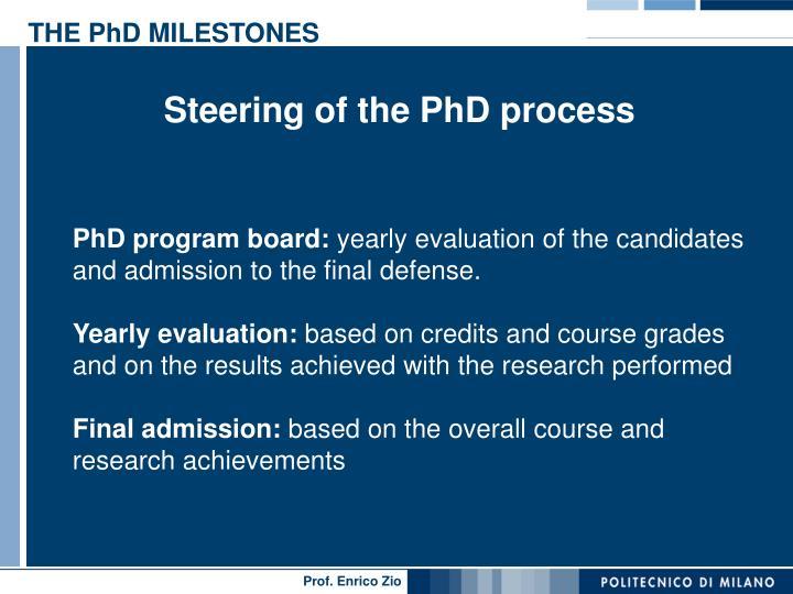 THE PhD MILESTONES
