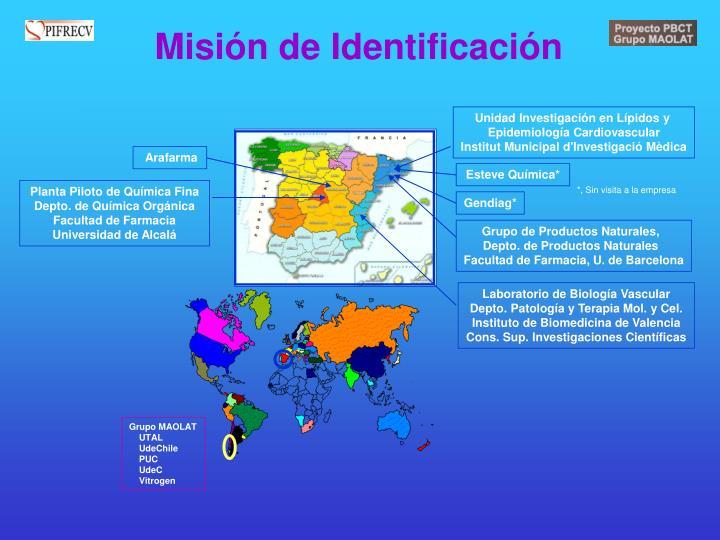 Misión de Identificación