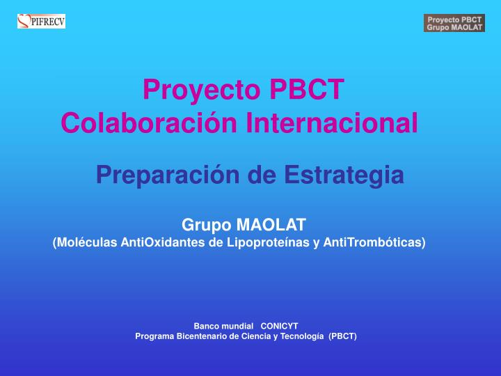 Proyecto PBCT