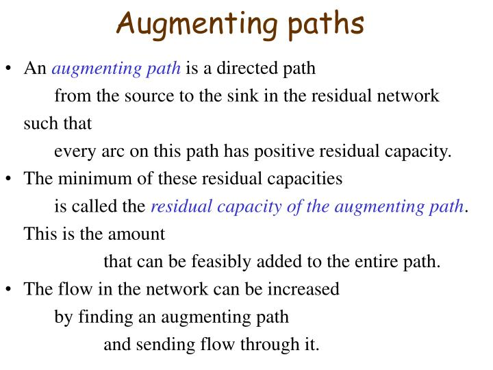 Augmenting paths