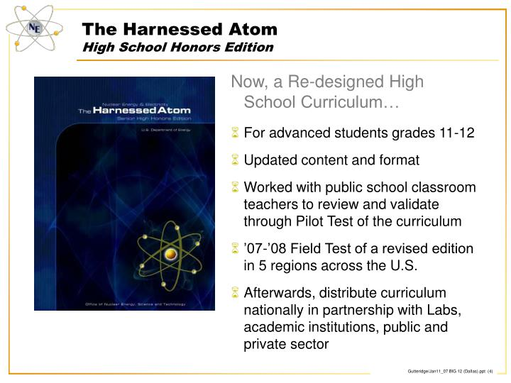 The Harnessed Atom
