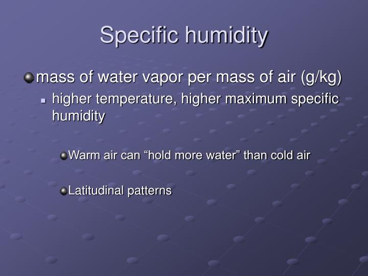 Specific humidity