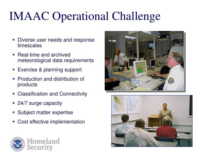 IMAAC Operational Challenge