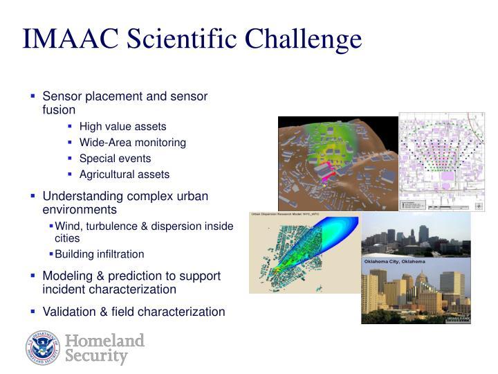 IMAAC Scientific Challenge