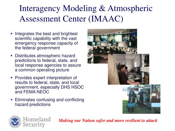 Interagency Modeling & Atmospheric Assessment Center (IMAAC)