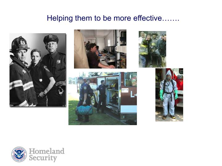 Helping them to be more effective…….
