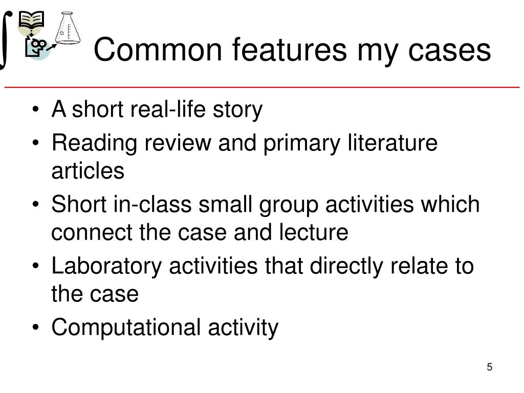 Common features my cases