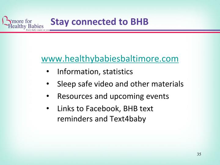 Stay connected to BHB