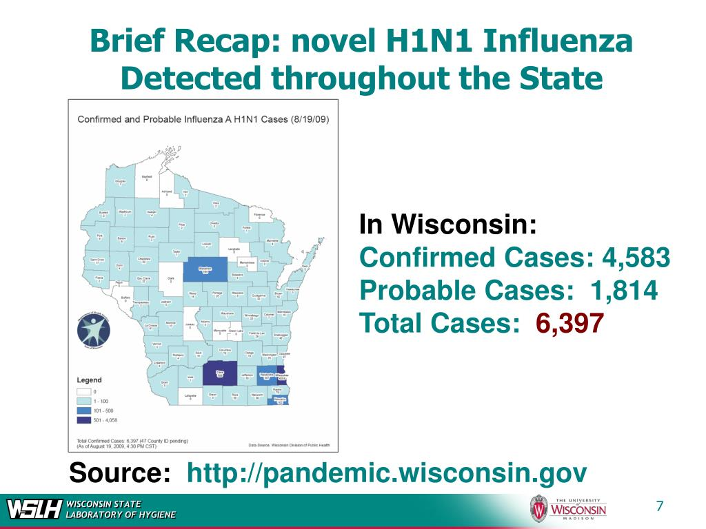 Brief Recap: novel H1N1 Influenza Detected throughout the State