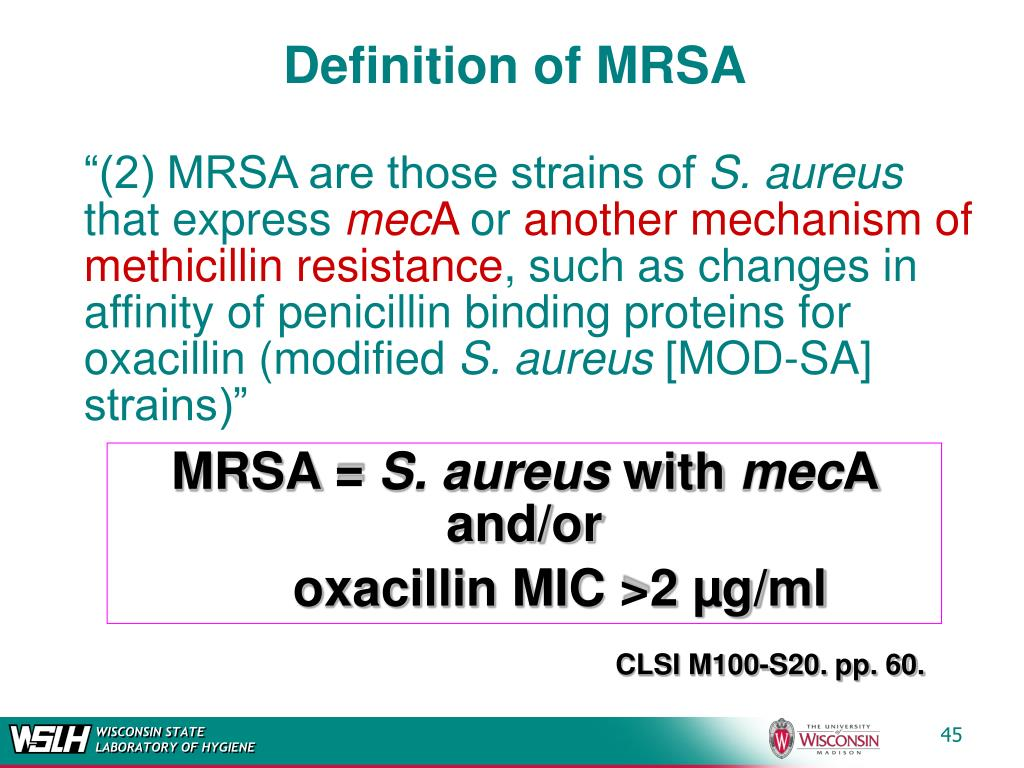 Definition of MRSA
