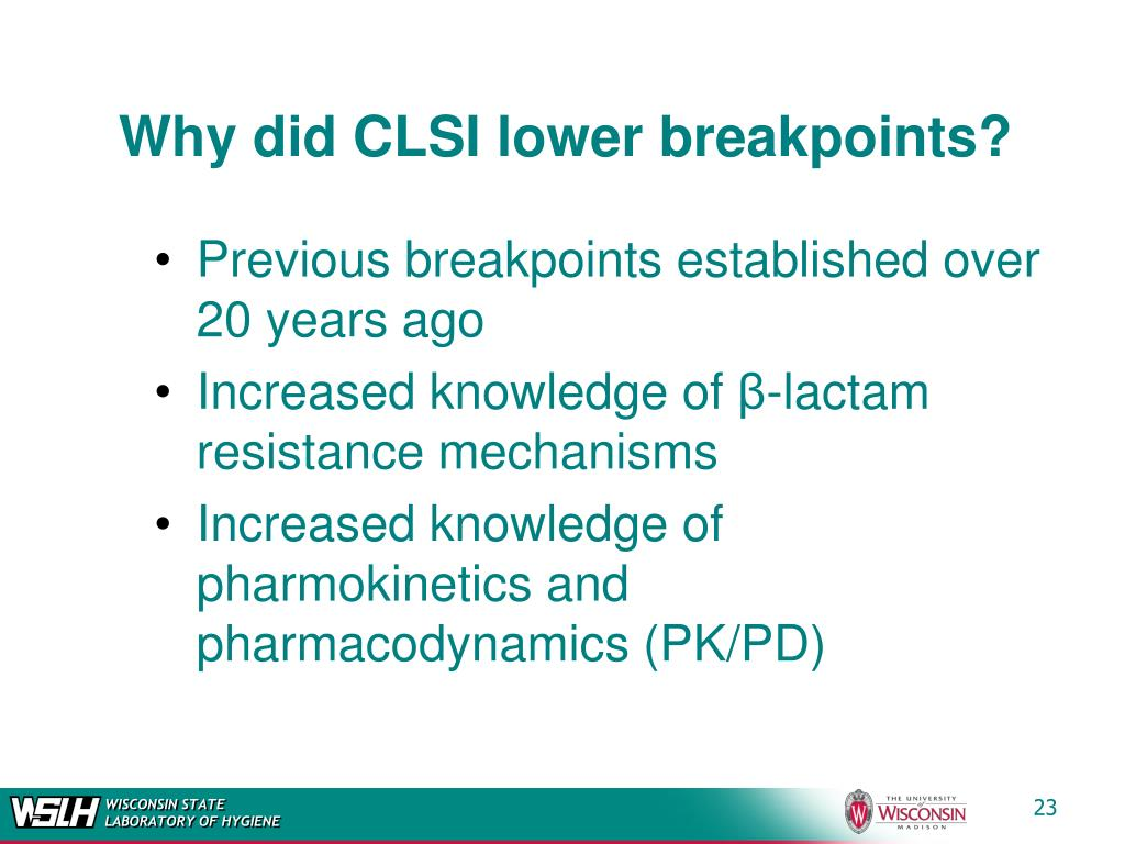 Why did CLSI lower breakpoints?